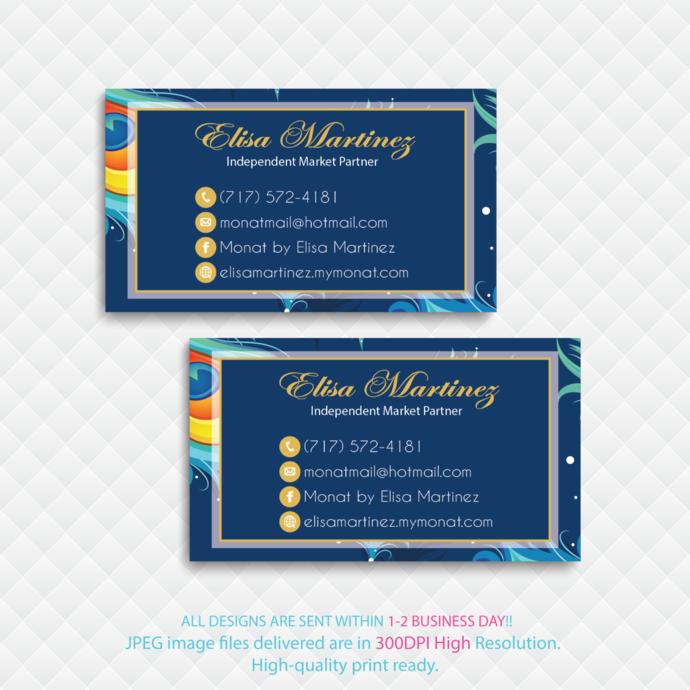 Personalized Monat Business Cards, Monat Business Cards, Custom Business Cards,
