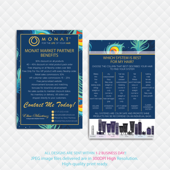 Monat Market Partner Benefits, Custom Monat Hair Care Card, Fast Free