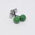 Tiny ball ear studs in malakit green