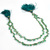 Stunning Natural Emerald Precious Faceted Heart Shaped Gem Stone Bead Strand.