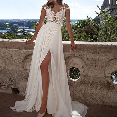 See through Lace Prom Dress, 2019 Long prom Dress, Lace Prom Dress, dresses for