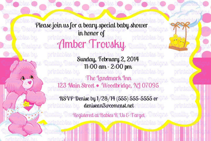graphic regarding Baby Shower Printable Invitations named Kid Shower Printable Invitation, Treatment Bears, Little one Hugs, Child Tugs, Do it yourself