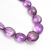 Beautiful !! Amethyst Semi Precious Hand Polished Plain/Smooth Tumbled Beads