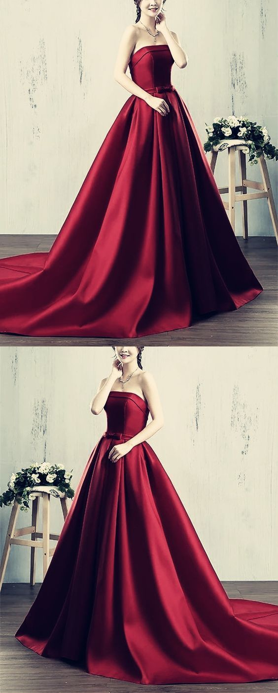 ae771a12a6c Red Strapless Ball Gown Prom Dress - Gomes Weine AG