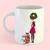 Watercolor fashion illustration - Christmas Girl 7 - Redhead