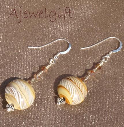 Glass Weave Earrings 9083