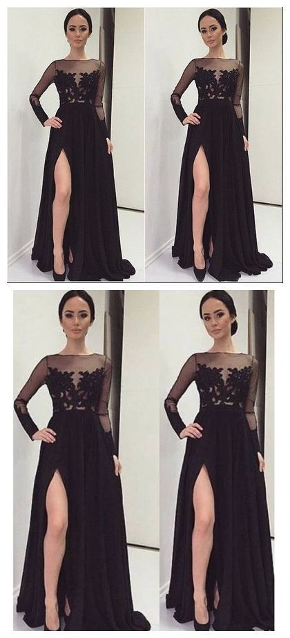 Black Prom Dresses, Long Sleeve Prom Dresses,Cheap Prom Dresses,Plus Size  Prom Dresses,Prom Dresses Cheap