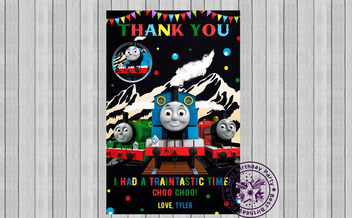 Thomas the train birthday party Thank You Cards, Birthday thank you cards,