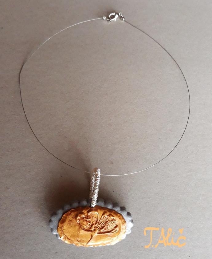 Handmade necklace (material for pendant: polymer clay - product 255/2018)