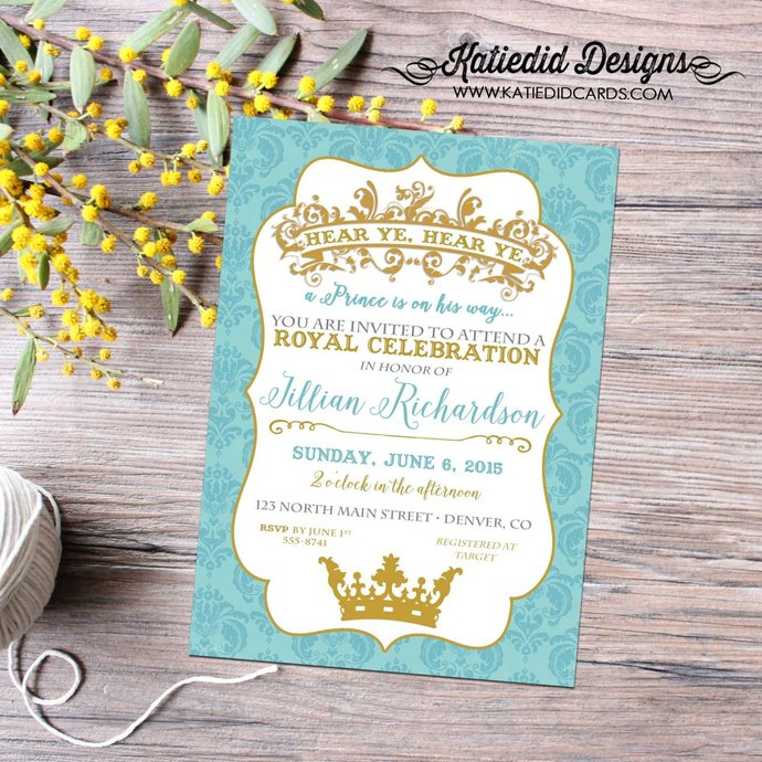 little prince couples baby shower invitation birthday twins boy sprinkle sip see