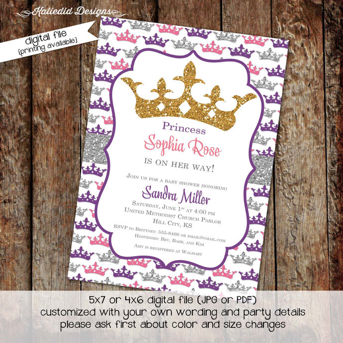 Once Upon A Time Invitation Princess By Katiedid Designs On Zibbet