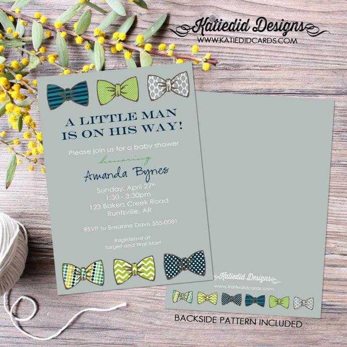 bow tie baby shower invitation little man gentleman oh boy coed sip see diaper