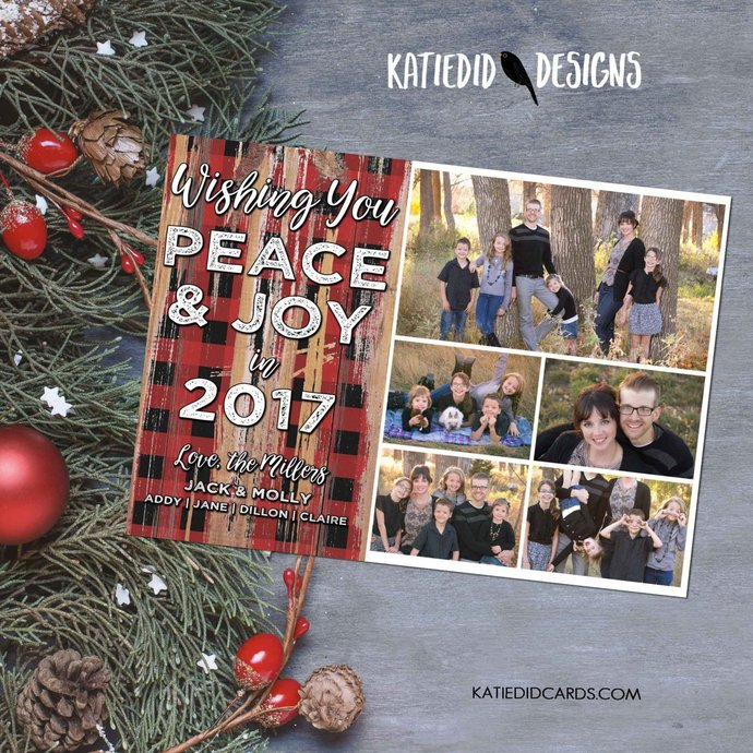 holiday greeting picture card Happy new year christmas holiday family photo