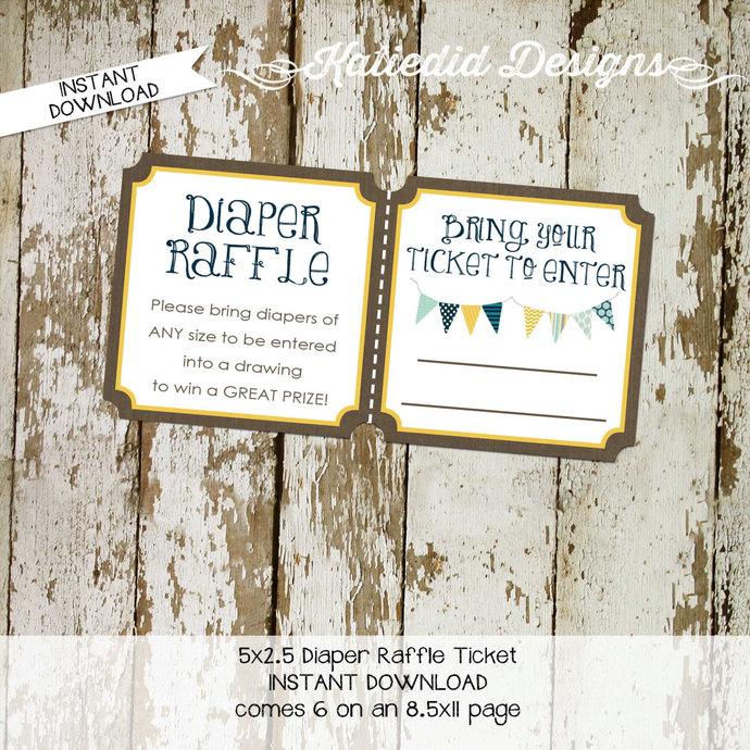 gender reveal party game Kraft paper rustic chic bunting banner diaper wipe