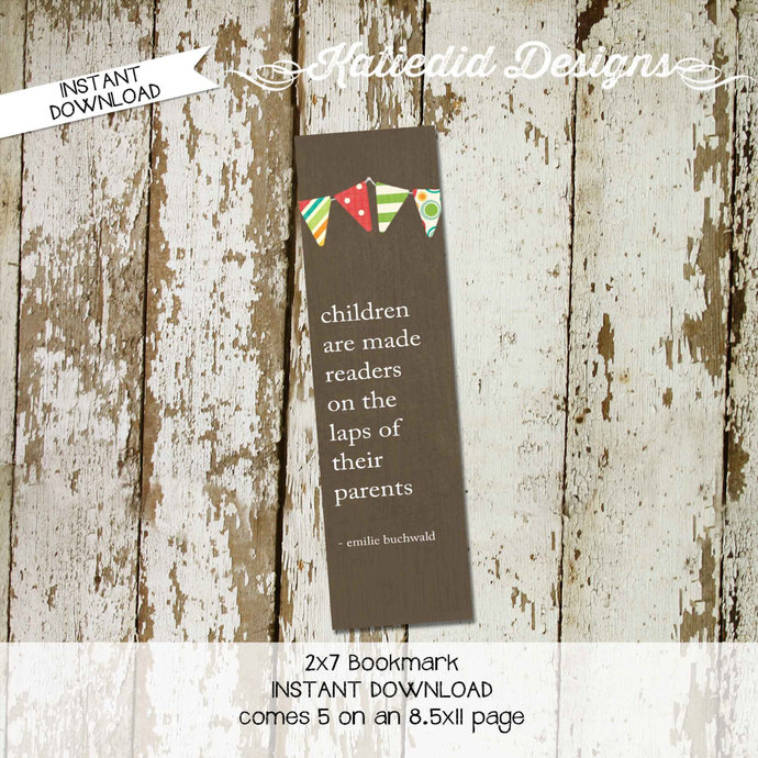 book theme party favor book theme baby shower bookmark instant download