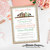 Once upon a time baby shower invitation storybook burlap lace mint green coral