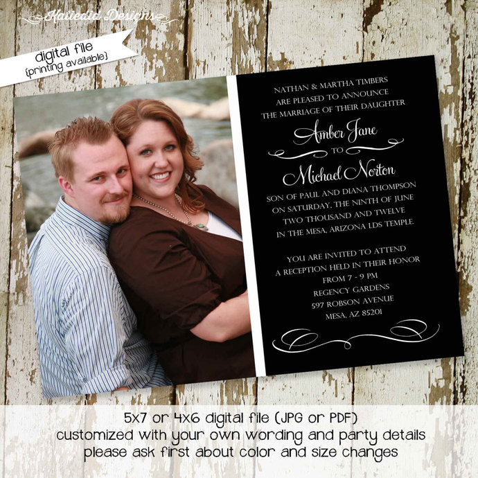 Rehearsal dinner invitation couples shower mormon LDS photo picture Wedding
