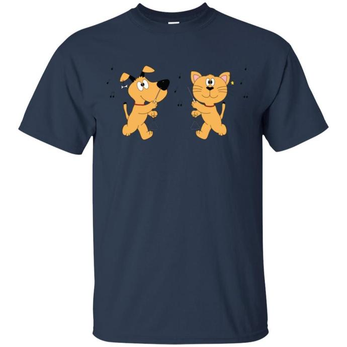 Dog and Cat Are Playing Triangle Men T-shirt