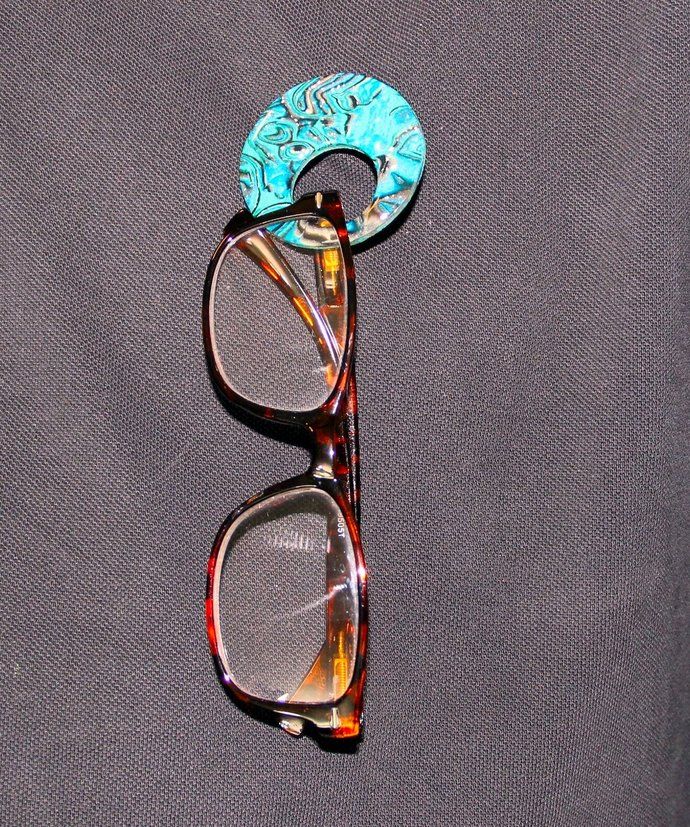 Eye Glasses Carry Pendant / Brooch - hand made and one of a kind jewelry art, by