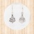 Sterling Silver Dangle Earrings with Christmas Tree Design