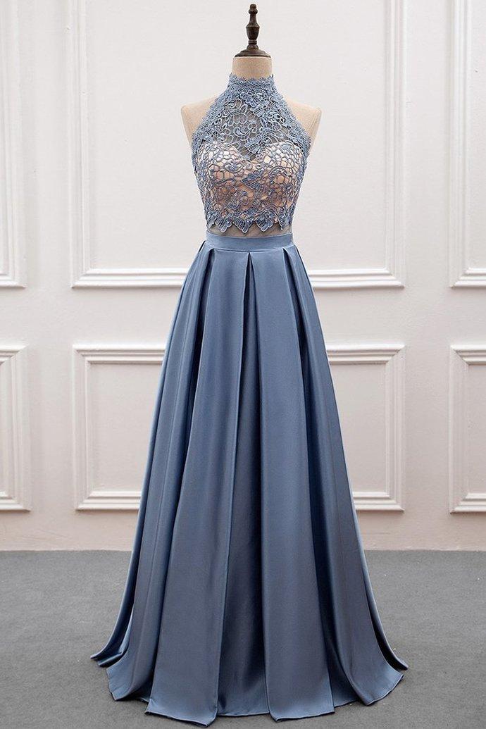 9d1de8dc68d Gorgeous Lace and Satin Long Formal Dress