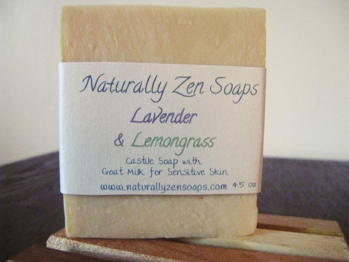 Lavender Lemongrass Castile Goat's Milk All Natural Soap