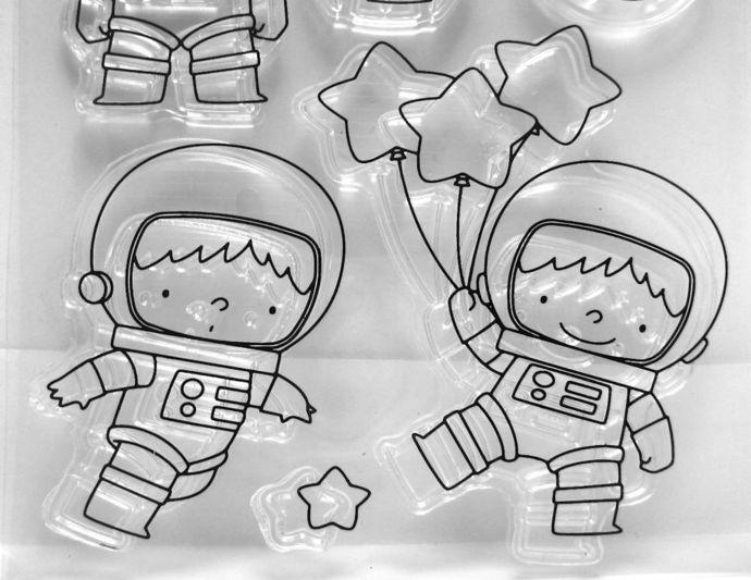 Little Astronaut Kids Rocket, Saturn Clear Stamps