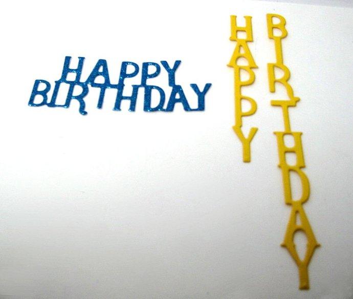 2pc Happy Birthday Metal Cutting Dies Set