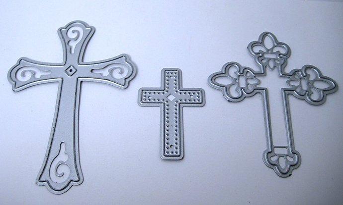 3pc Cross Metal Cutting Die Set Style #3