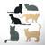 6 Piece Small Cat Metal Cutting Die Set