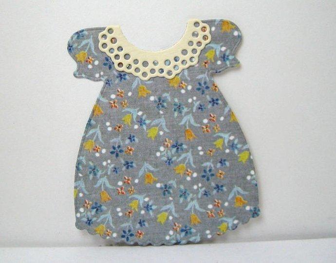 4pc Little Girl Dress Set Metal Cutting Die Set