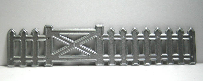 Fence with Gate Metal Cutting Die