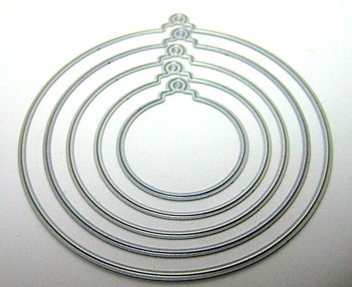 5 pc Ornament Metal Cutting Die Set