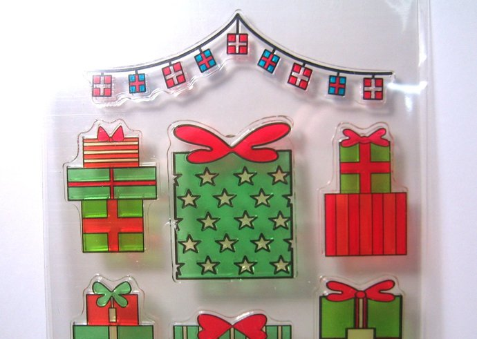 Christmas Presents and Trees Clear Stamp Set
