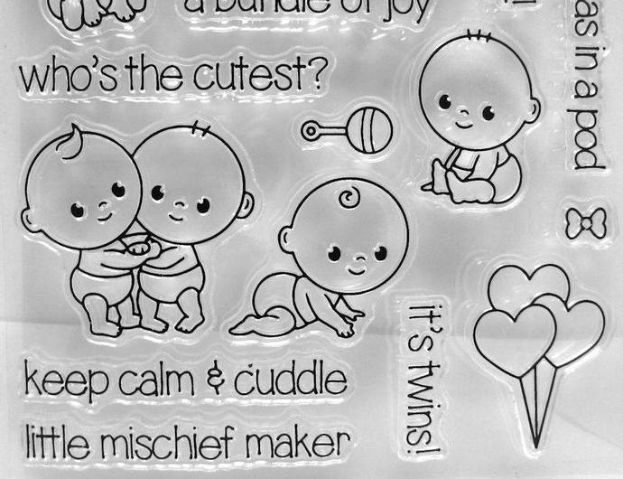 Little Babies Clear Stamps, Kid Stamps, Children Stamps