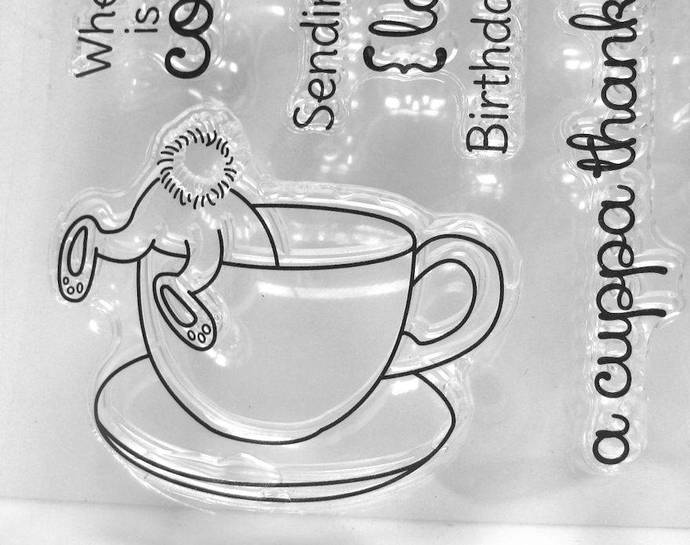 Bunny In a Cup Coffee Latte Clear Stamps