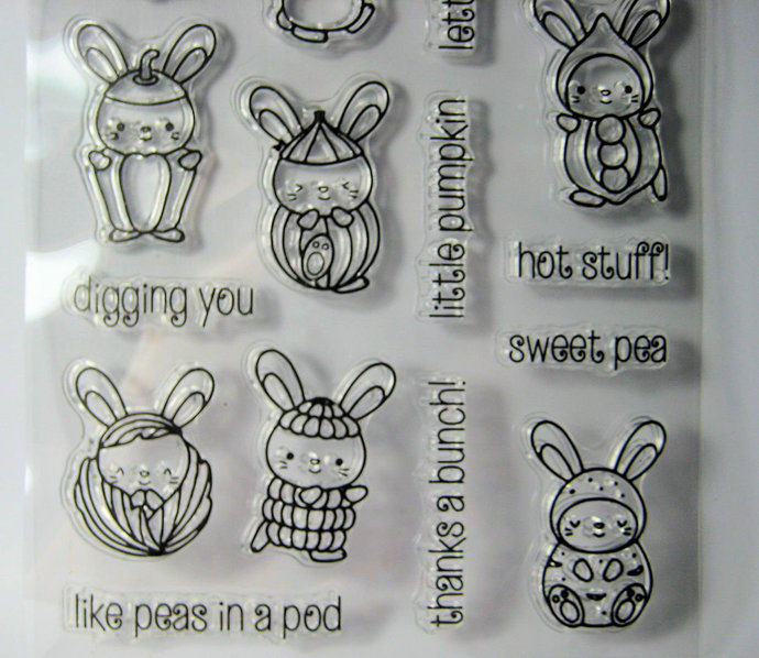 Little Vegetable Clear Stamps Set