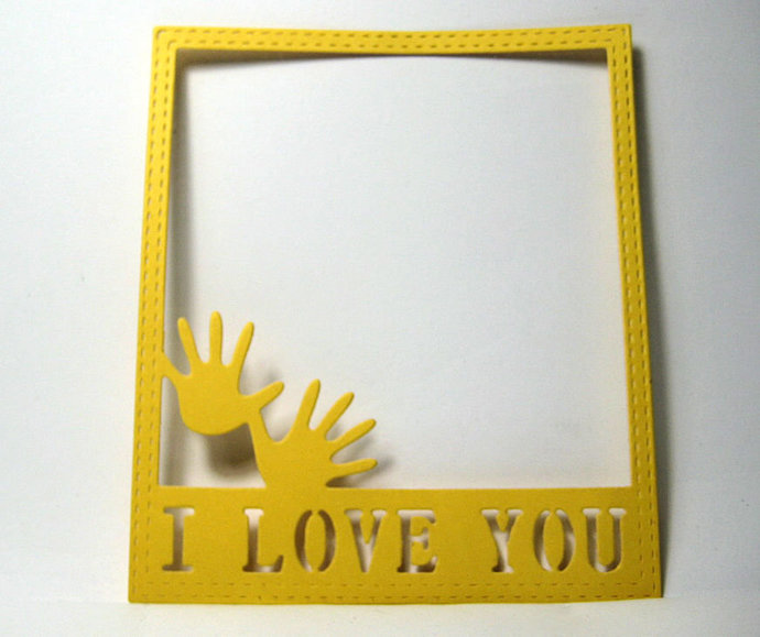 I Love You Frame Metal Cutting Die