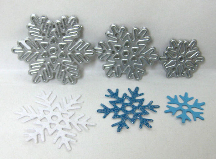 3D Pine Tree Metal Cutting Die Set w/Snowflakes, Star etc 8pc Set