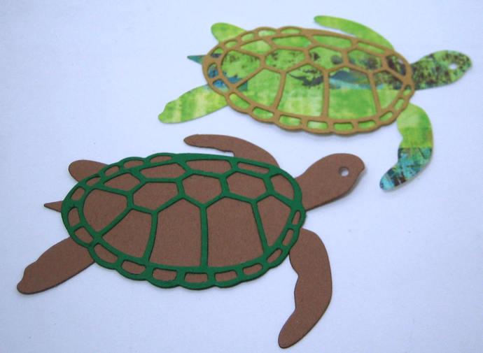 2pc Sea Turtle Metal Cutting Die Animal Die Cuts Card Making Supplies