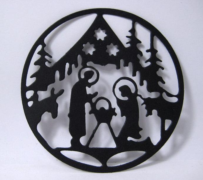 Round Nativity Scene Cutting Die