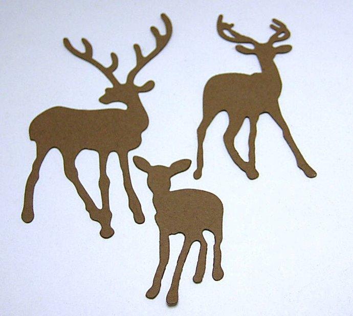 3 Deer Metal Cutting Die Set