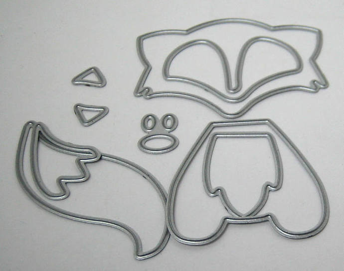 9pc Fox Metal Paper Cutting Die Set, Die Cuts