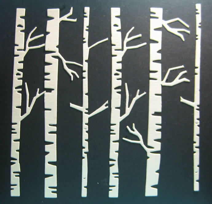 Large Birch Tree Woods Cutting Die