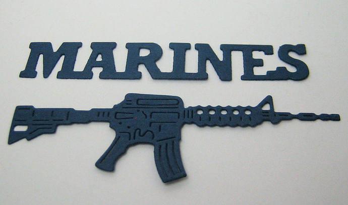 5pc Marine's Set Metal Cutting Dies Military, LAST ONE