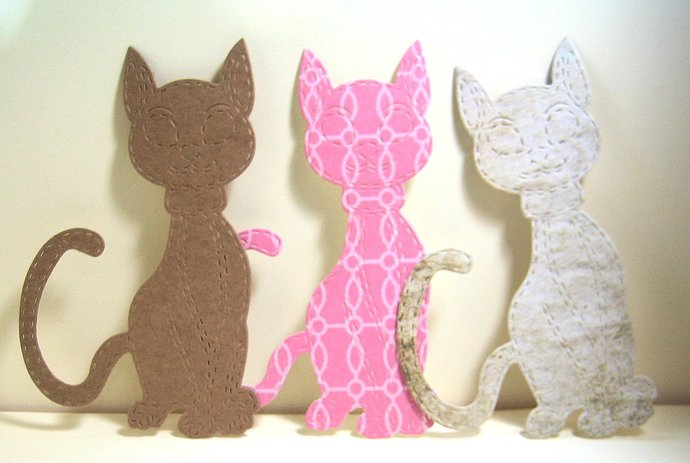 Stitched Cat Metal Cutting Die