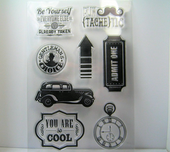Auto, Ticket, Mustache, Watch, Words, Sayings Clear Stamps