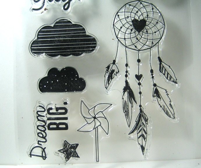 Dream Catcher Clear Stamp Bike Stamp Cloud Stamp Pinwheel Text
