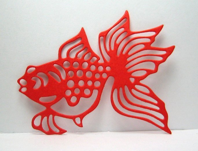 Fabulous Fancy Goldfish Metal Cutting Die