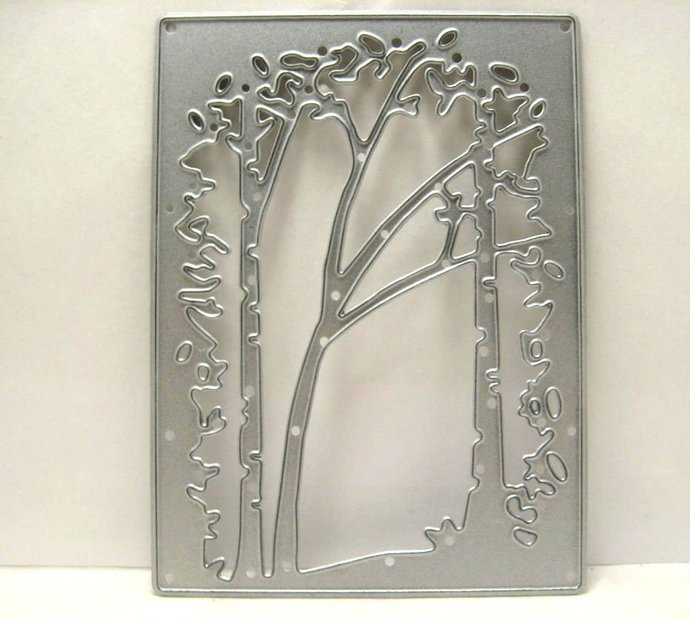 Woods Tree Square Cutting Die Frame Small Size